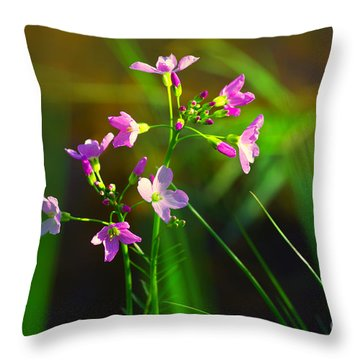 Kuckucksblume Throw Pillow by Tanja Riedel