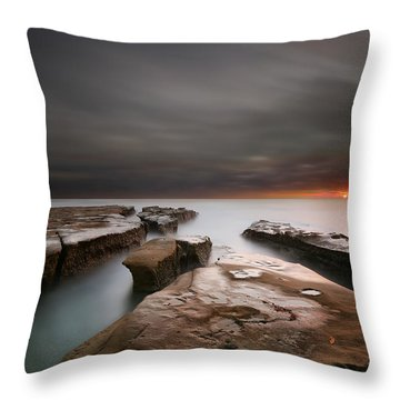 La Jolla Reef Sunset Throw Pillow by Larry Marshall