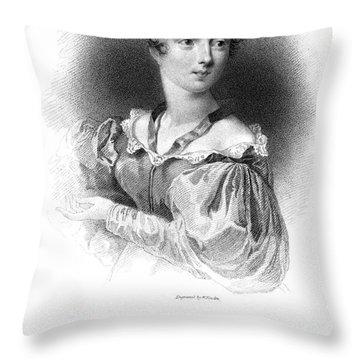 Lady Caroline Lamb Throw Pillow by Granger