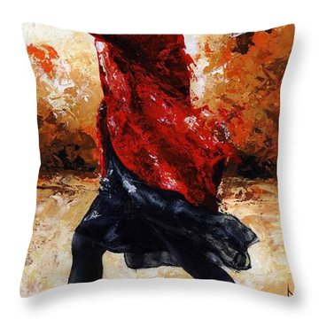 Lady In Red 28 Throw Pillow by Emerico Imre Toth