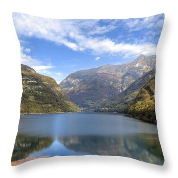 Lago Di Vogorno Throw Pillow by Joana Kruse
