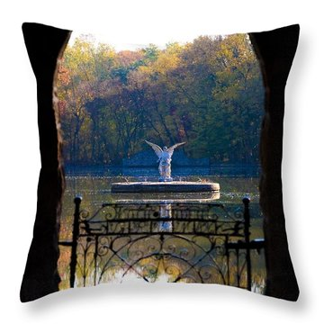 Lake Angel Throw Pillow by Bill Cannon