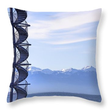 Lake Constance Friedrichshafen Throw Pillow by Joana Kruse