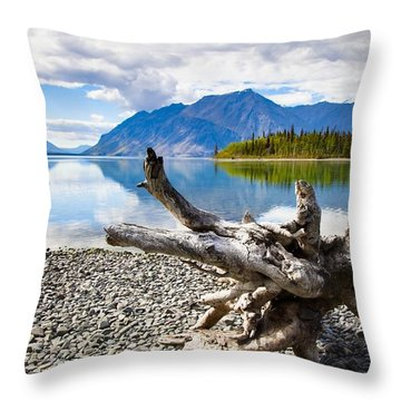 Lake Kathleen In Kluane National Park Throw Pillow by Blake Kent