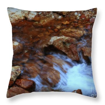Lake Shasta Waterfall  Throw Pillow by Garnett  Jaeger