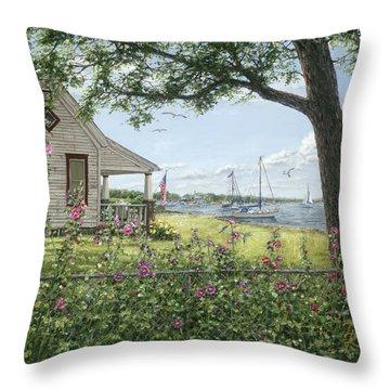 Lake Somewhere Throw Pillow by Doug Kreuger