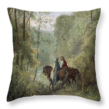 Lancelot & Guinevere Throw Pillow by Granger