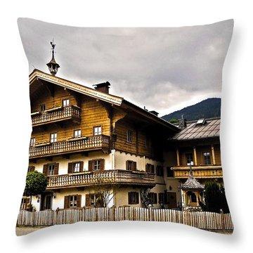 Landhaus Hofermuehle - Maria Alm  Throw Pillow by Juergen Weiss