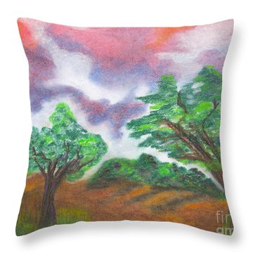 Landscape 1 Throw Pillow by Mary Zimmerman
