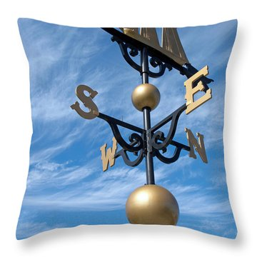 Largest Weathervane Throw Pillow by Ann Horn