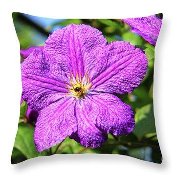 Last Summer Bloom Throw Pillow by Mariola Bitner