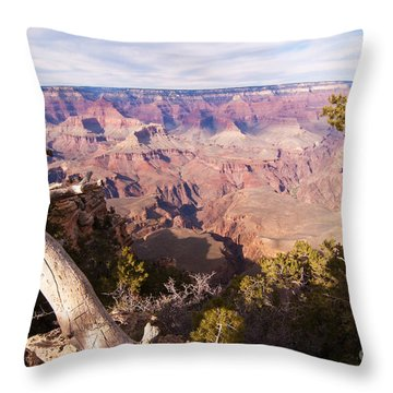 Late Afternoon At The South Rim Throw Pillow by Bob and Nancy Kendrick