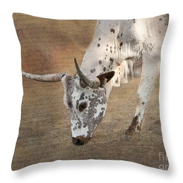 Lazy Days Throw Pillow by Betty LaRue