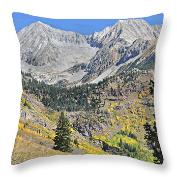 Lead King Basin Road 3 Throw Pillow by Marty Koch
