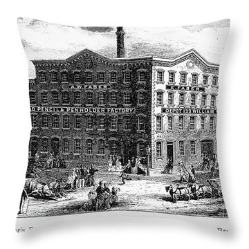 Lead Pencil Factory Throw Pillow by Granger
