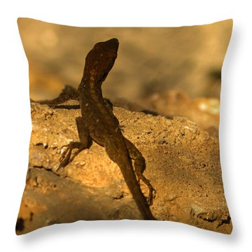 Leapin' Lizards Throw Pillow by Trish Tritz