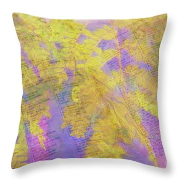 Leaves . . . Trees And Books Throw Pillow by Judi Bagwell