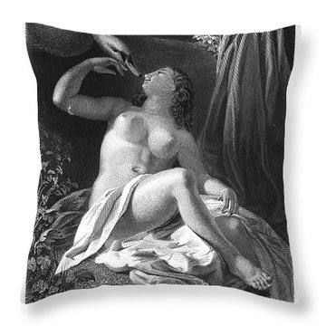 Leda And The Swan Throw Pillow by Granger