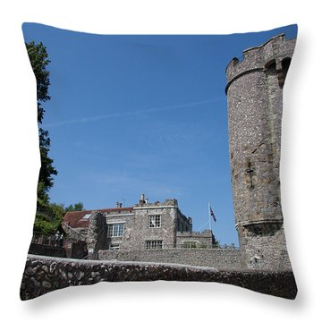 Lewes Castle Throw Pillow by Dawn OConnor