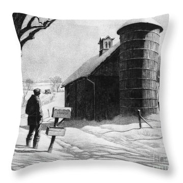 Lewis: R.f.d., 1933 Throw Pillow by Granger