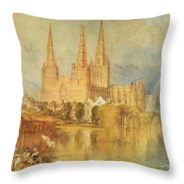 Lichfield Throw Pillow by Joseph Mallord William Turner