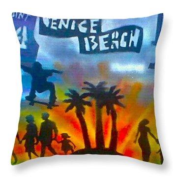 Life's A Beach Throw Pillow by Tony B Conscious