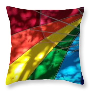 Light And Shadow Throw Pillow by Ginny Schmidt