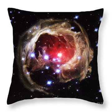 Light Echoes From Exploding Star Throw Pillow by Space Telescope Science Institute / NASA