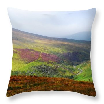 Light Over Wicklow Hills. Ireland Throw Pillow by Jenny Rainbow