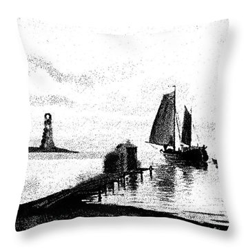 Lighthouse Point Throw Pillow by George Pedro