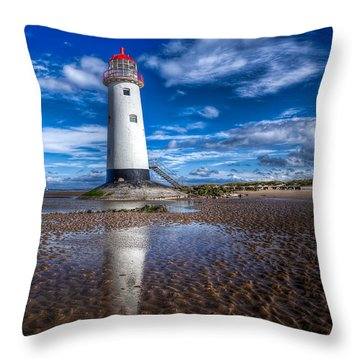 Lighthouse Reflections Throw Pillow by Adrian Evans