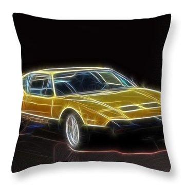 Lightning Fast Throw Pillow by Barry Jones