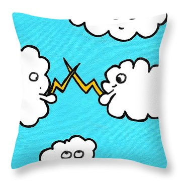 Lightning Fight Throw Pillow by Jera Sky