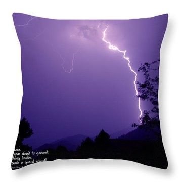 Lightning Over The Rogue Valley Throw Pillow by Mick Anderson
