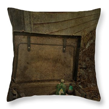 Liquid Letters Of Leaving  Throw Pillow by Jerry Cordeiro