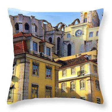 Lisbon Buildings Throw Pillow by Carlos Caetano