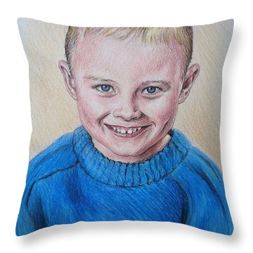 Little Boy Commissions Throw Pillow by Andrew Read