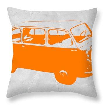 Little Bus Throw Pillow by Naxart Studio