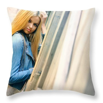 Liuda5 Throw Pillow by Yhun Suarez