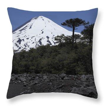 Llaima Volcano, Araucania Region, Chile Throw Pillow by Martin Rietze