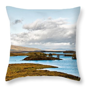 Loch Ba View Throw Pillow by Chris Thaxter