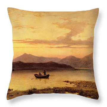 Loch Etive From Bonawe In The Evening Throw Pillow by George Edwards Hering