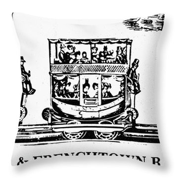 Locomotive, 1833 Throw Pillow by Granger