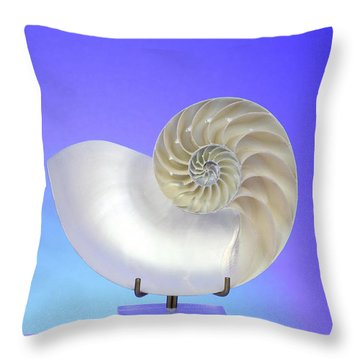 Logarithmic Spiral Throw Pillow by Photo Researchers, Inc.