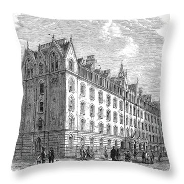 London: Lodging House Throw Pillow by Granger