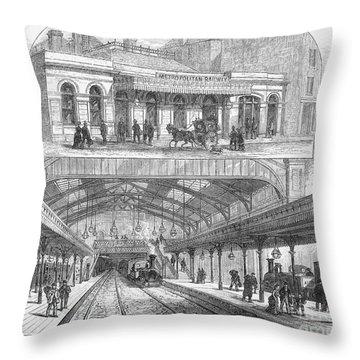 London: Railway, 1876 Throw Pillow by Granger