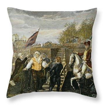Louis Xvi: Execution, 1793 Throw Pillow by Granger