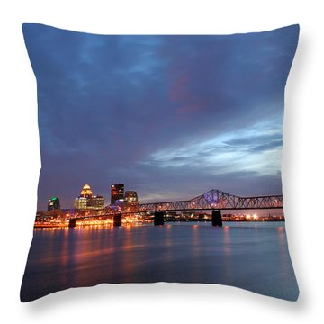 Louisville Kentucky Throw Pillow by Darren Fisher