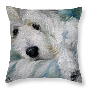 Lounging In The Shadows Throw Pillow by Mary Sparrow
