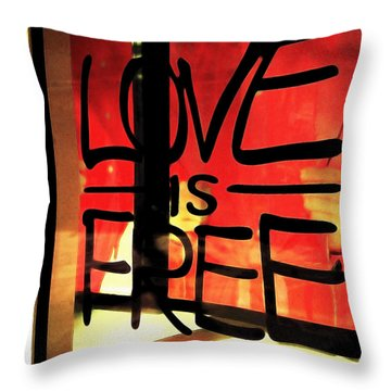 Love Is Free Throw Pillow by Cheryl Young